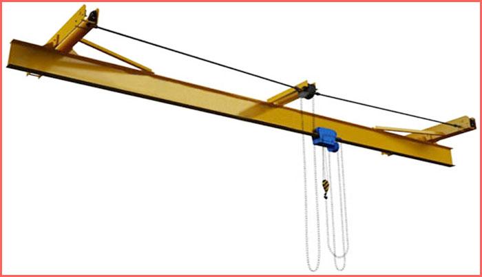Ручной однобалочный подвесной кран