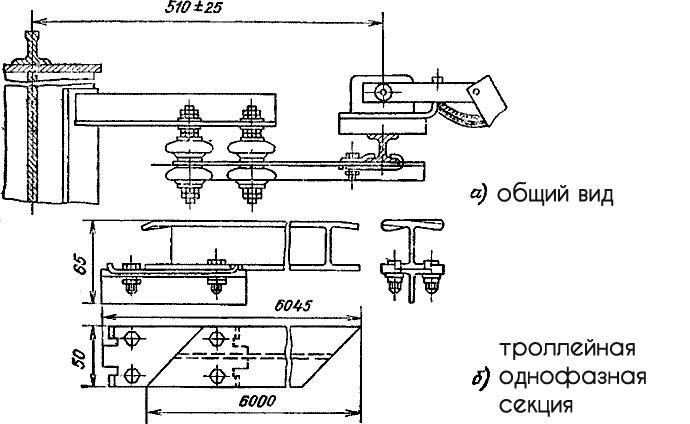 Троллейное комплектное устройство мостового крана