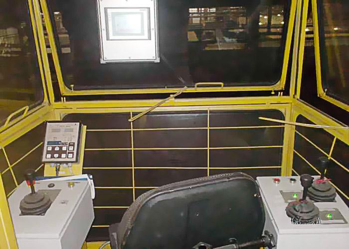 Система управления мостовым краном. Вид из кабины крановщика