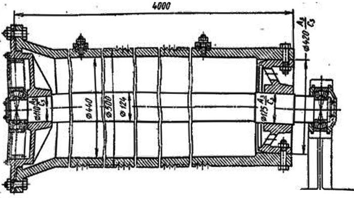 Барабан мостового крана. Схема