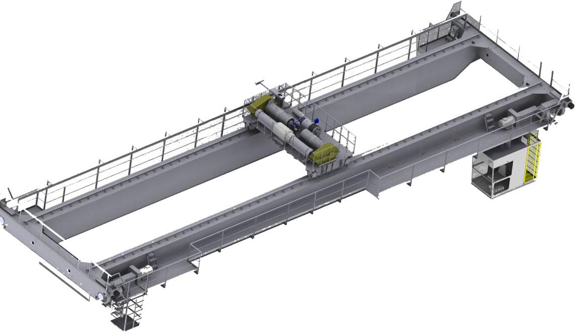 Мостовой кран грузоподъемностью 20 т.