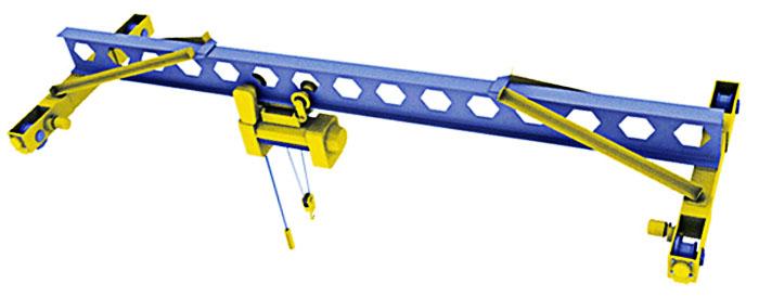 Электрический однобалочный опорный кран (ГОСТ 22045-89)