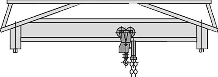 Ручная мостовая кран-балка