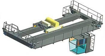 Кран мостовой электрический двухбалочный опорный: плавный ход и легкость управления