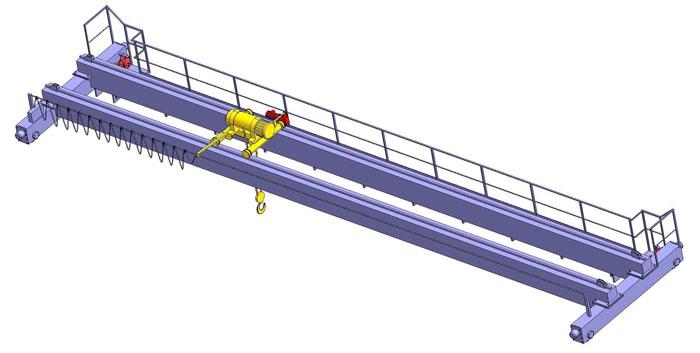 Мостовая электрическая опорная кран-балка